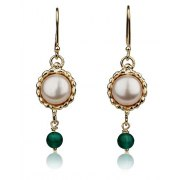 Queen Helene Pearl Earrings, Israeli Jewelry