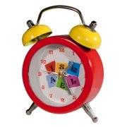 Red Mini Alarm Clock with Israel Logo