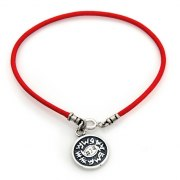 Red String Kabbalah Bracelet w/ Medallion Against Evil Eye