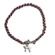 Red String & Silver Bracelet with Chai Pendant