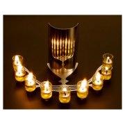 Reflecting Hanukkah Menorah, Peleg Designs