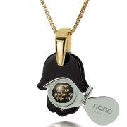 Traveler's Prayer 14K Gold & Onyx Necklace Nano Jewelry