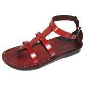 Roman Style Adjustable Strap Leather Sandals - Amiram