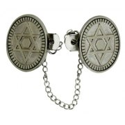 Round Star of David Tallit Clips