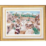 Shmuel Katz - The Jewish Quarter - Israeli Art