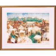 Shmuel Katz - View of western wall - Israeli Art