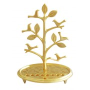 Tree with birds Hanukkah Menorah. Israeli Judaica by Shraga Landesman
