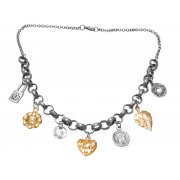 Silver and Gold Plated Charm Necklace