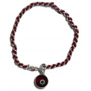 Silver and Red String Evil Eye Bracelet