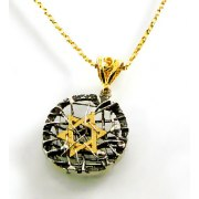 Pendant with Gold Star of David