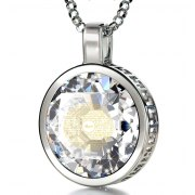 Silver Thank You Mom with Cubic Zirconia Crystal Clear