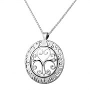 Silver Verse Curlicues Necklace