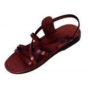 4623d6991 Slim Crossover Adjustable Biblical Leather Sandals - Hermon