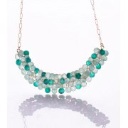 Smadar Edri Enamel Handmade Lotus Necklace, Israeli Fashion Jewelry