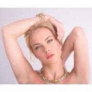 Smadar Edri Rainbow Enamel Handmade Collar Necklace, Israeli Jewelry