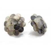 Smadar Edri Shades of Grey Enamel Handmade Necklace, Israeli Fashion Jewelry