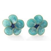 Smadar Edri Tropical Beach Enamel Handmade Collar, Israeli Jewelry