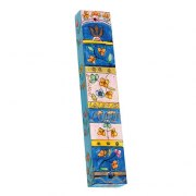 Small Painted Wood Mezuzah Case with Flowers on Levels