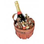 Sparkling Wine and Chocolate Gift Basket
