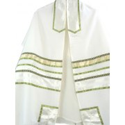 Spring Green Tallit Prayer Shawl by Galilee Silks