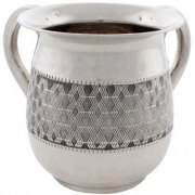Stainless Steel Wavy lines design Washing Cup