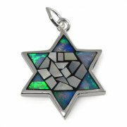 A Star of David Necklace for all Occasions, Silver & Opal