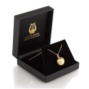 Sterling Silver 14K Gold Plated Golden Bell Necklace, Jewish Jewelry