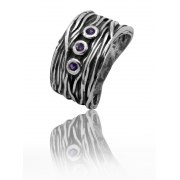 Sterling Silver and Amethyst Zirconia Ring