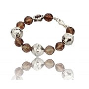 Sterling Silver and Quartz Beads Bracelet
