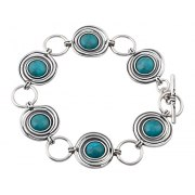 Sterling Silver and Turquoise Stone Bracelet