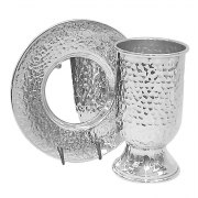 Sterling Silver Hammered, Kiddush Cup