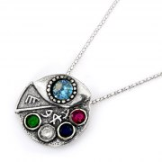 Sterling Silver Kabbalah Pendant for Charisma, Personal Power
