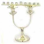 Sterling Silver Menorah & Candle Sticks