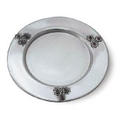 Sterling Silver Stones Saucer