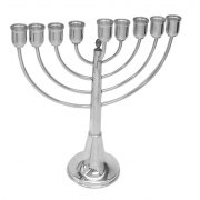 Sterling Silver Smooth Classic Design, Hanukkah Menorah