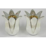 Sterling Silver Tulip Shaped Shabbat Candlesticks