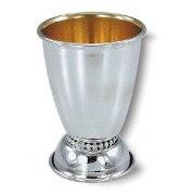 Sterling Silver Wide Bottom Pearl Style Ornamente, Kiddush Cup