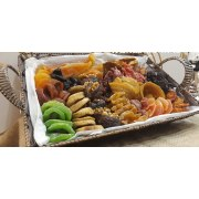 Surprise Large Straw Basket with Dried Fruits