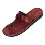 T-Strap Ring Biblical Leather Slip-on Sandals