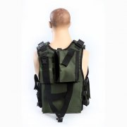 Tactical Radio Vest for Military Radio Operators - Back View