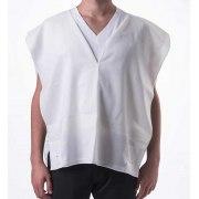 Tallit Katan White Wool V Neck Tzitzit