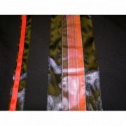Tallit Prayer Shawl Black Wool with Red and Black Stripes