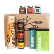 Taste of Israel Gift Box with Honey Land Box Spearmint and Lemongrass