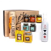 Taste of Israel Gift Box with Pomegranate Wine Honey Land Box
