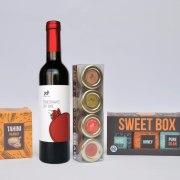 Taste of Israel Purim Gift Box with Peanut Tahini Quartet and Sweet Box