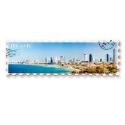 Tel Aviv Panorama Fridge Magnet, Souvenirs from Israel