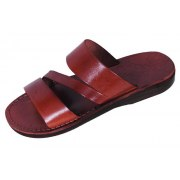 Three Strap Slip-on Leather Biblical Sandals - Caleb