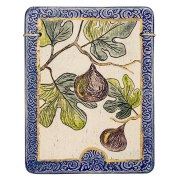 Handmade Ceramic Plaque with fig Tree by Art in Clay