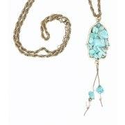Trendy Turquoise Hamsa Necklace