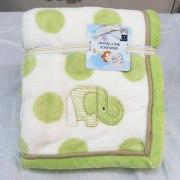 Velvet Embroidered Baby Blanket from Pinat Eden